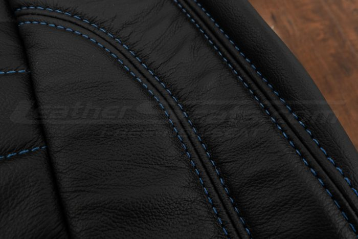 13-14 Ford Mustang Upholstery Kit - Black - Cobalt side double stitching 2