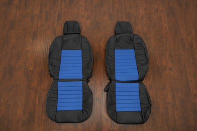 05-09 Ford Mustang Leather Kit - Black & Cobalt - Featured Image