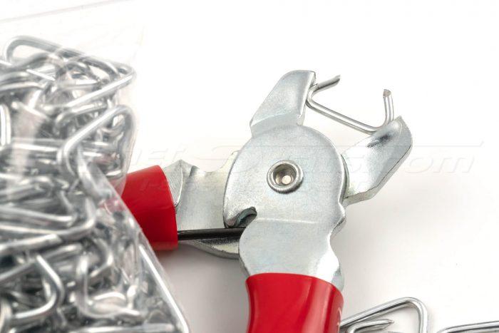 Loaded hog-ring pliers