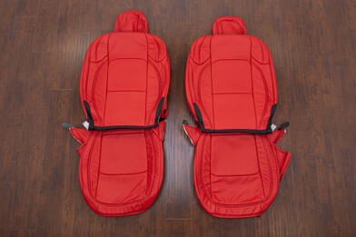 Jeep Wrangler Leather Kit - Bright Red