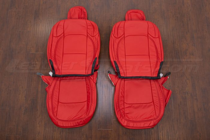 Jeep Wrangler Leather Kit - Bright Red - Front Seat Upholstery