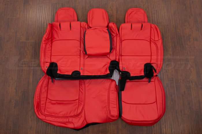 Jeep Wrangler Leather Kit - Bright Red - Rear seat upholstery w/ Armrest