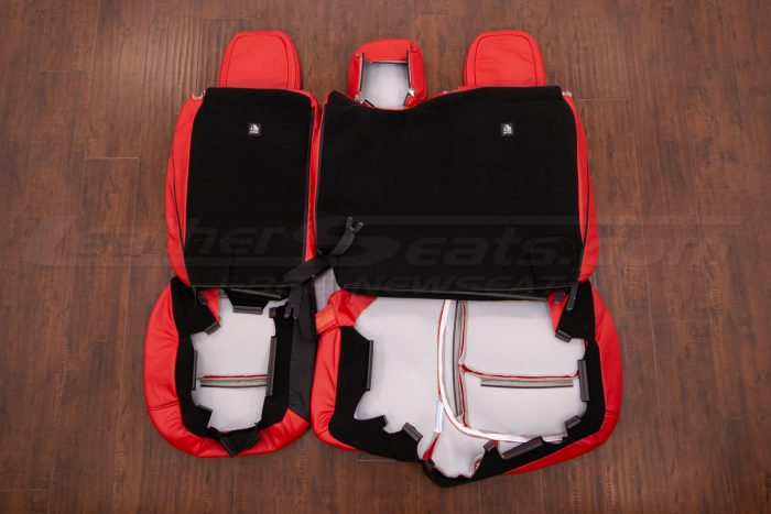 Back view of rear seats
