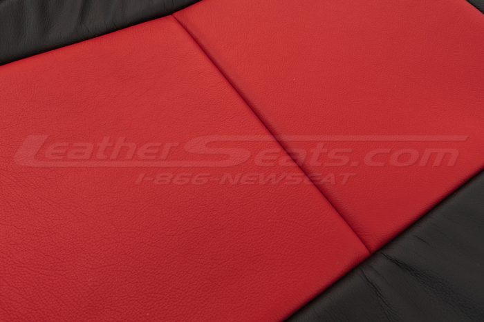 Red and Black leather textures