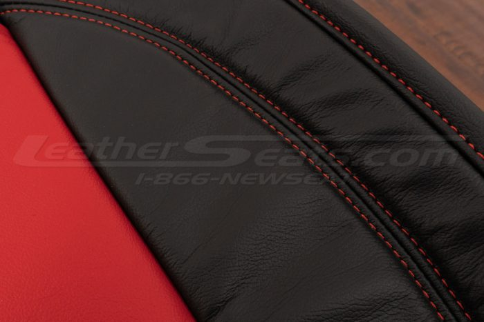 Bright Red double-stitching