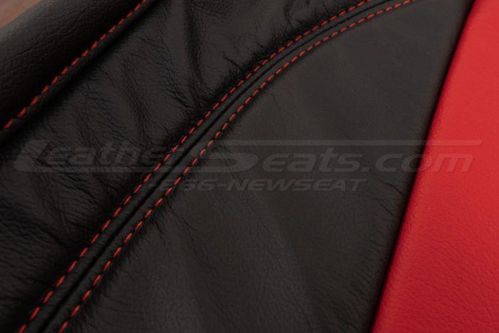 Backrest double-stitching