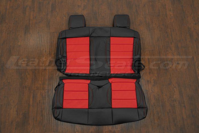 07-10 Jeep Wrangler Upholstery Kit - Black / Bright Red - Rear seat upholstery