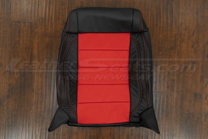07-10 Jeep Wrangler Upholstery Kit - Black / Bright Red - Front backrest upholstery