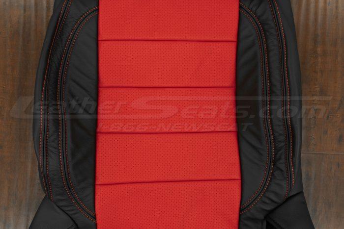 07-10 Jeep Wrangler Upholstery Kit - Black / Bright Red - Backrest perforated insert