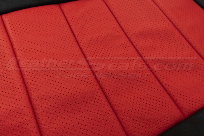 07-10 Jeep Wrangler Upholstery Kit - Black / Bright Red - Perforated Insert