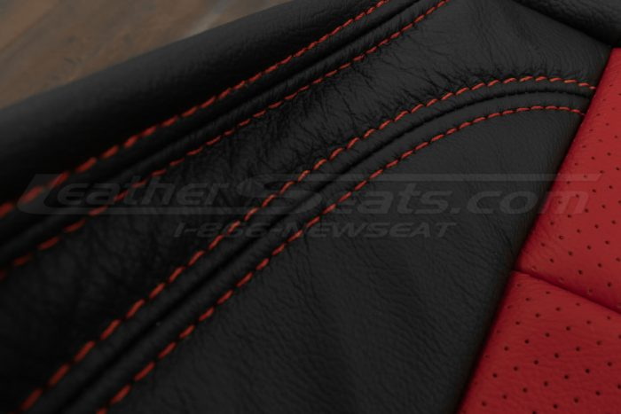 07-10 Jeep Wrangler Upholstery Kit - Black / Bright Red - Bright red stitching