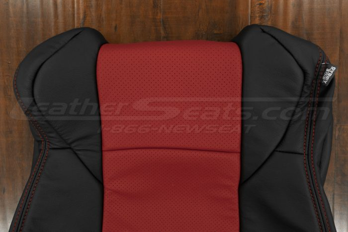 Upper section of perforated backrest