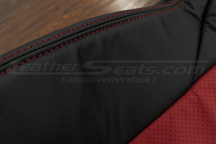 Red side double-stitching
