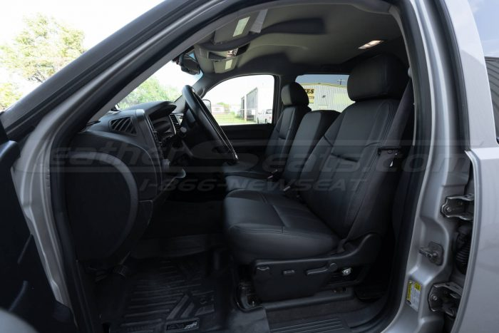 Wide angle - Drivers side installed leather seats