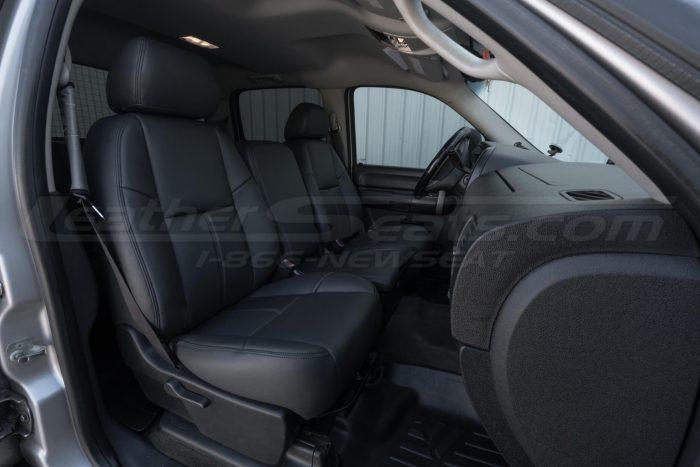 Dark Graphite installed Chevy seat upholstery