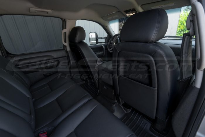 Back view of front seats from passenger side