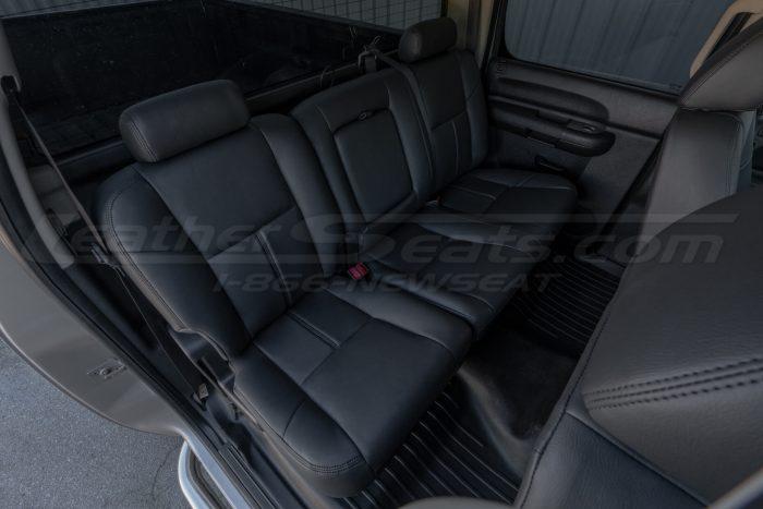 Overhead view of passenger rear seats