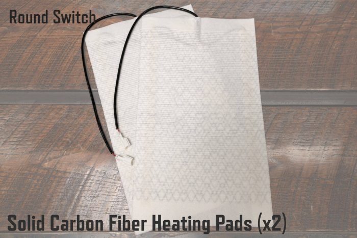 Solid Carbon Fiber Heating Pads for Round Switch Seat Heaters