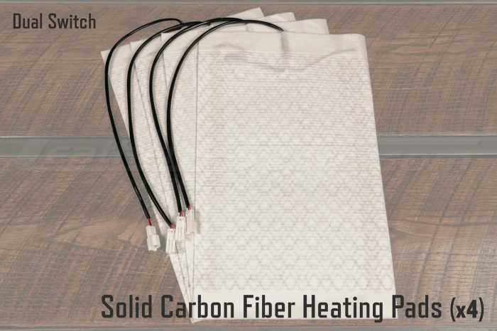 Solid Carbon Heating Pads for Dual Switch Seat Heaters