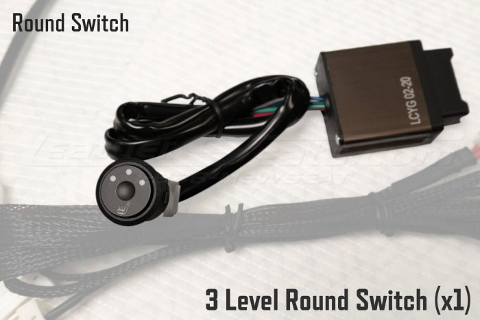 Round Switch Seat Heater - 3 Level Round Switch