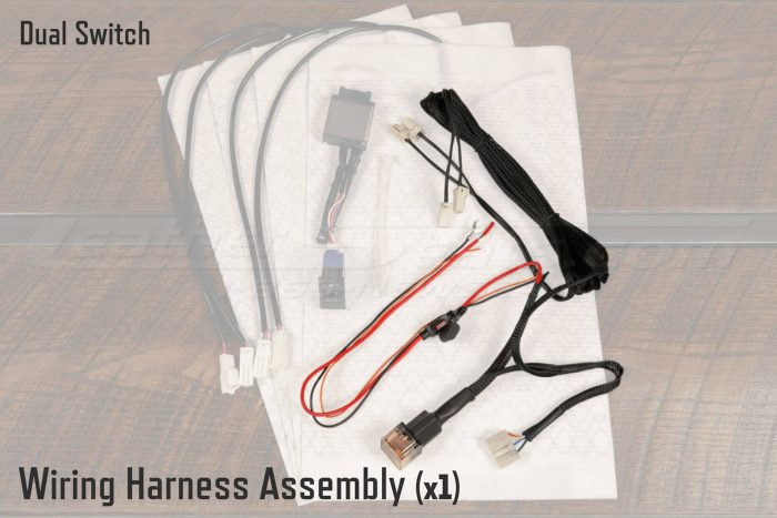 Dual Switch Vehicle Seat Heater Wiring Harness Assembly