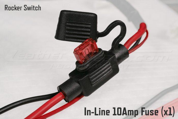 Rocker Switch In-Line 10Amp Fuse