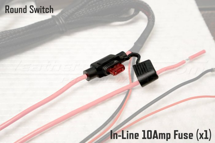 Round Switch Seat Heater In-Line 10Amp Fuse