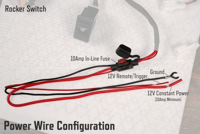 Rocker Switch Seat Heater Wire Configuration