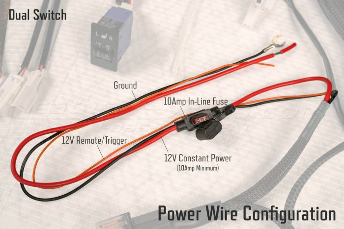 Dual Switch Seat Heater Power Wire configuration