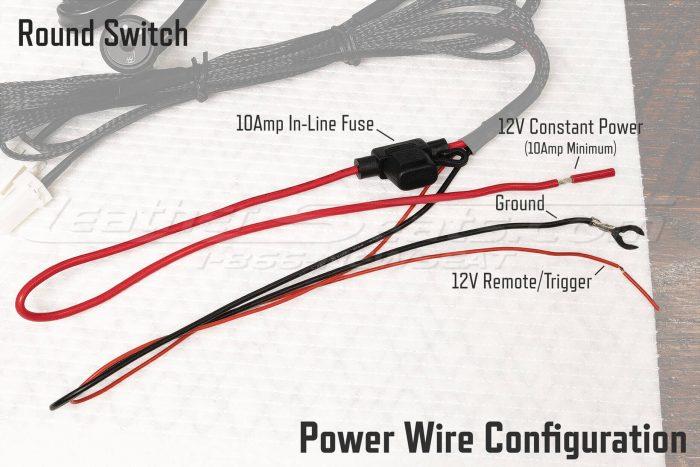 Round Switch Seat Heater Power Wire Configuration