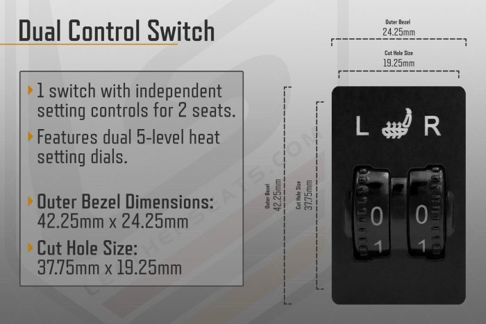 Dual Control Switch Seat Heater Information
